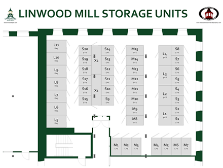 Storage unit layout